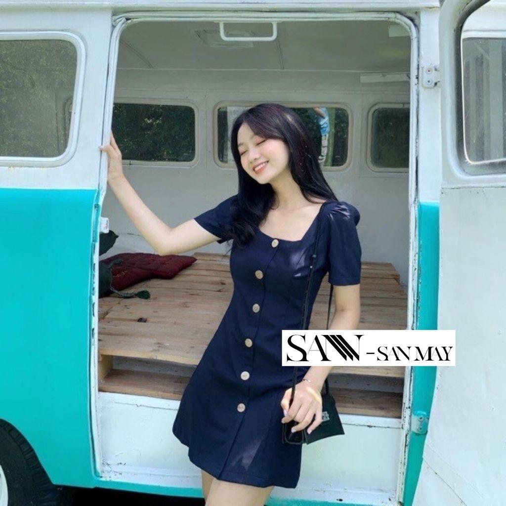 Mặc gì đẹp: Váy Cổ Vuông Body, Đầm Công Sở Ôm Dáng Hàn Quốc Sang Trọng SANMAY Thiết Kế Phù Hợp Dự Tiệc Cưới VD009