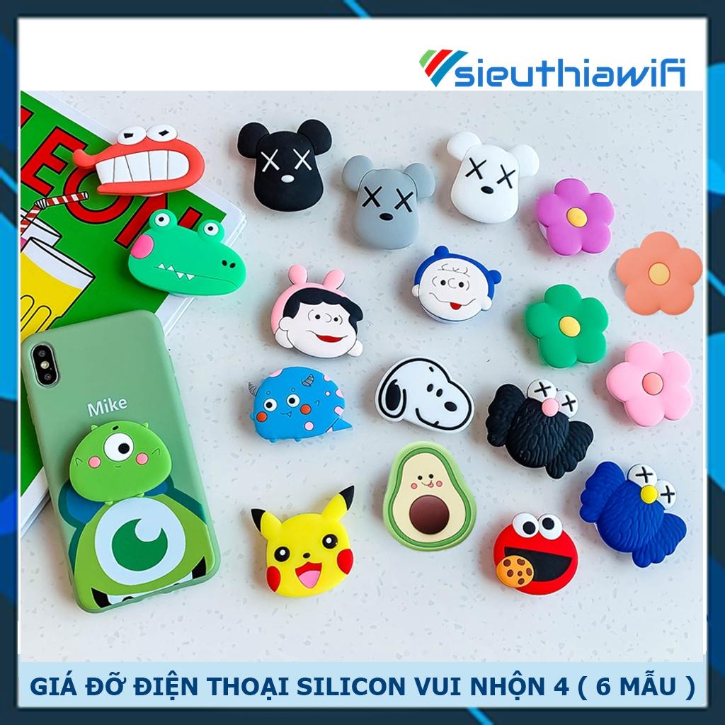 Giá đỡ silicon hình thú vui nhộn 4 ( 6 mẫu ) - Awifi Case M1-2
