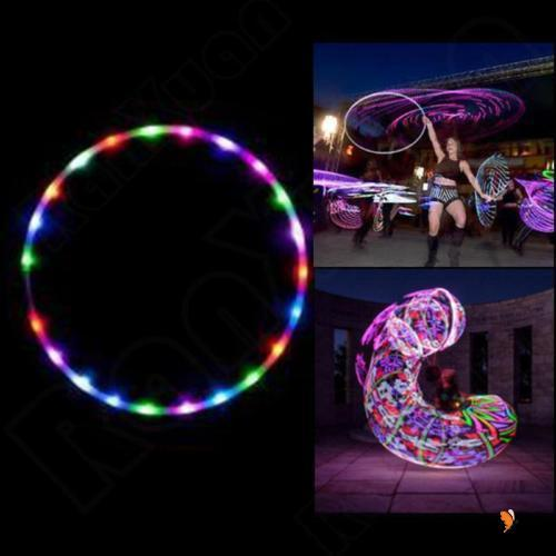 E.H-70-90CM LED Hoop Full Collapsable Color Changing LED Light Loose Weight Toy