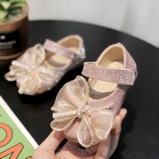 Giày búp bê da đế bằng thời trang mùa xuân cho bé gái20210724
