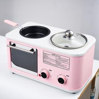 Lò nướng mini đa năng, bếp nướng 3 trong 1 dùng nướng, chiên rán, hấp tiện lợi