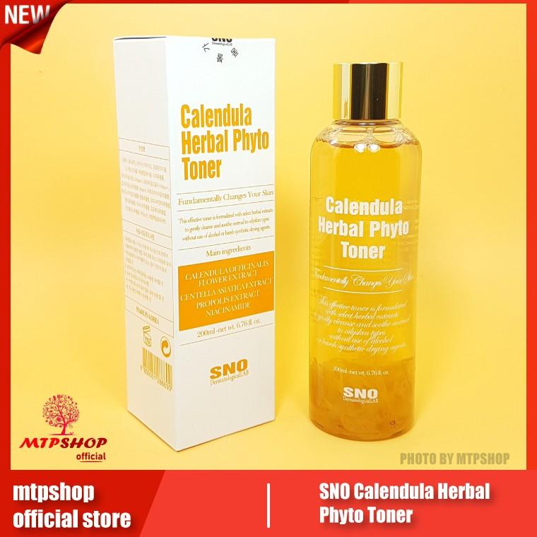 Nước Hoa Cúc Chứa Cánh Hoa Tươi SNO Calendula Herbal Phyto Toner