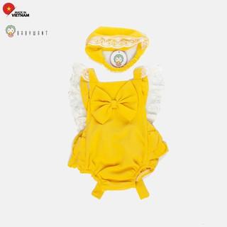 Bộ đồ Romper cho bé gái . trẻ sơ sinh họa tiết ren màu vàng BABYWANT thumbnail