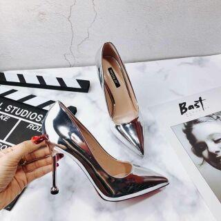 Giày cao gót ánh bạc