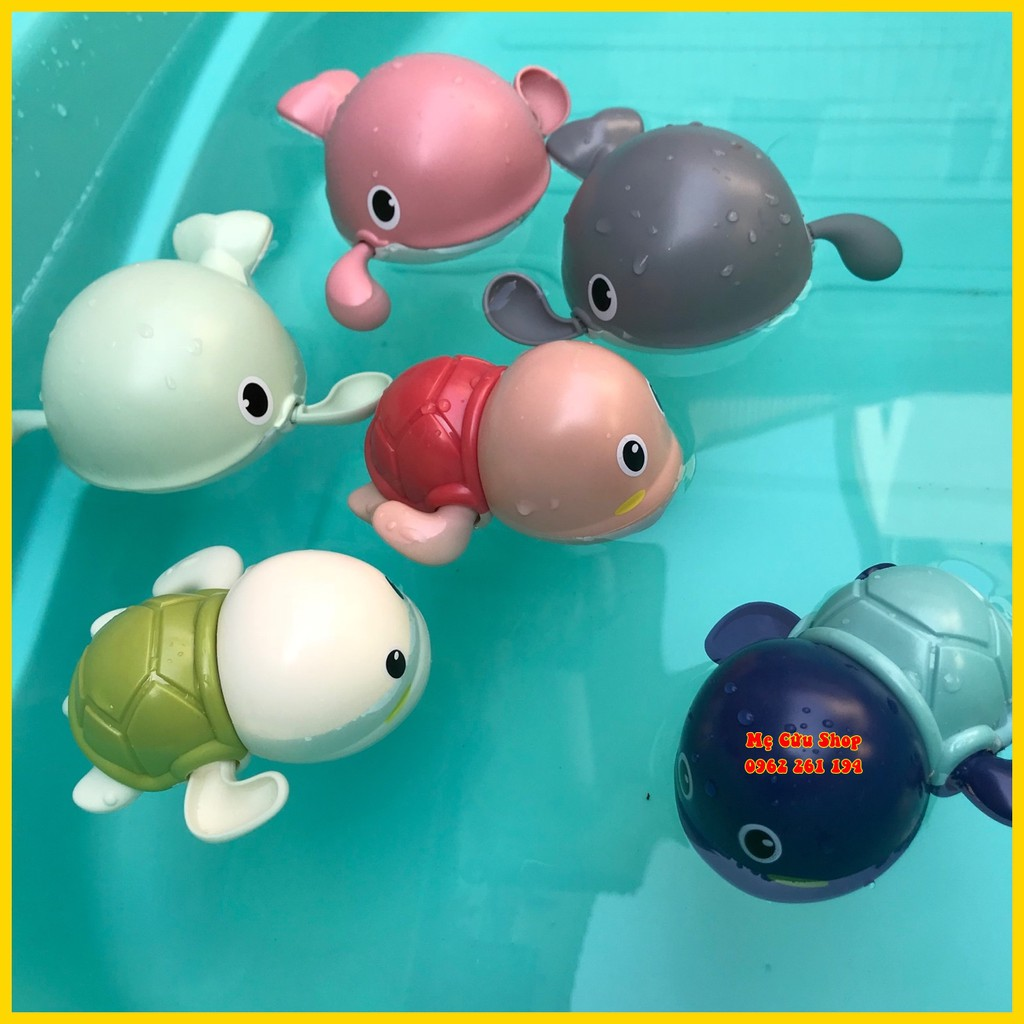 Cá voi bơi, rùa bơi vặn cót cho bé - Đồ chơi nhà tắm ngộ nghĩnh dễ thương