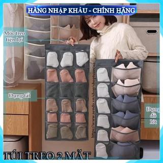 [Sản Phẩm Loại 1] Túi treo đồ lót 2 mặt 30 ô đa năng nhiều ngăn để tất vớ có móc ích lợi và tiện dụng kiểu mới