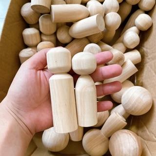 Set 2 Búp bê gỗ 9-10cm
