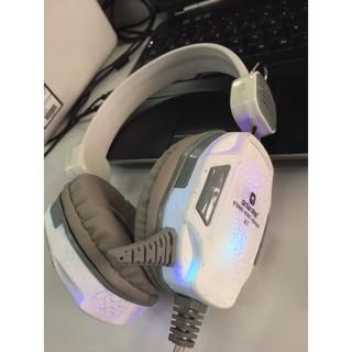Tai nghe có dây Qinlian A7 trắng có đèn led thumbnail