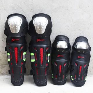 [ FREESHIP TOÀN QUỐC ] Giáp Bảo Hộ Đi Phượt - Loại Inox Siêu Bền Có Phản Quang - Giáp INOX bảo vệ chân tay