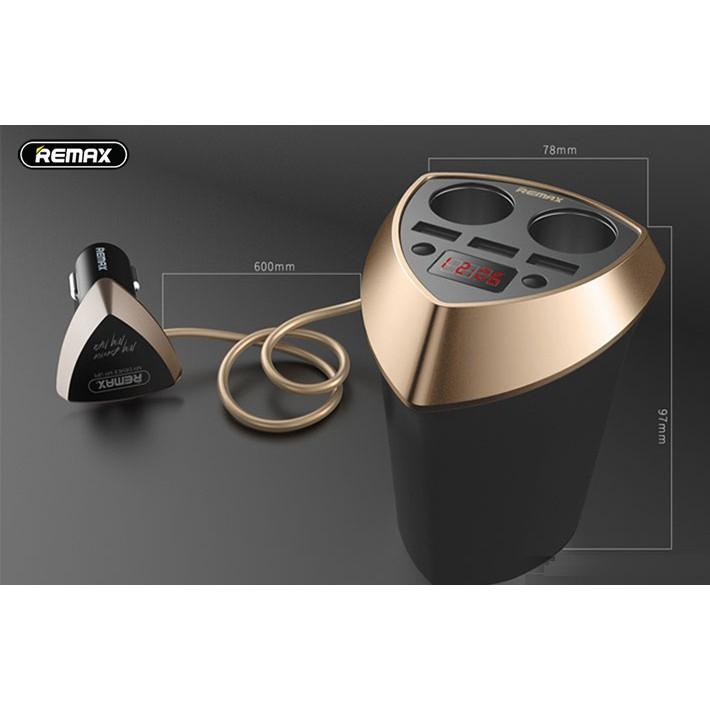 Bộ Sạc Đa Năng Cho Ô Tô Remax CR-3XP 3 USB, 2 Tẩu Sạc - BH 1 Năm