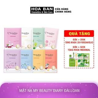 Mặt nạ Cấp nước và dưỡng ẩm dưỡng trắng Black Pearl Red Vine Revitalizing My Beauty Diary Taiwan Mask 23ml/Miếng