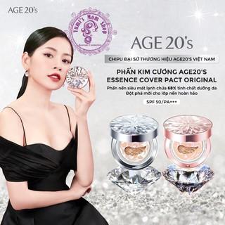 Phấn Nền Lạnh Kim Cương AGE20's Essence Cover Pact DIAMOND White