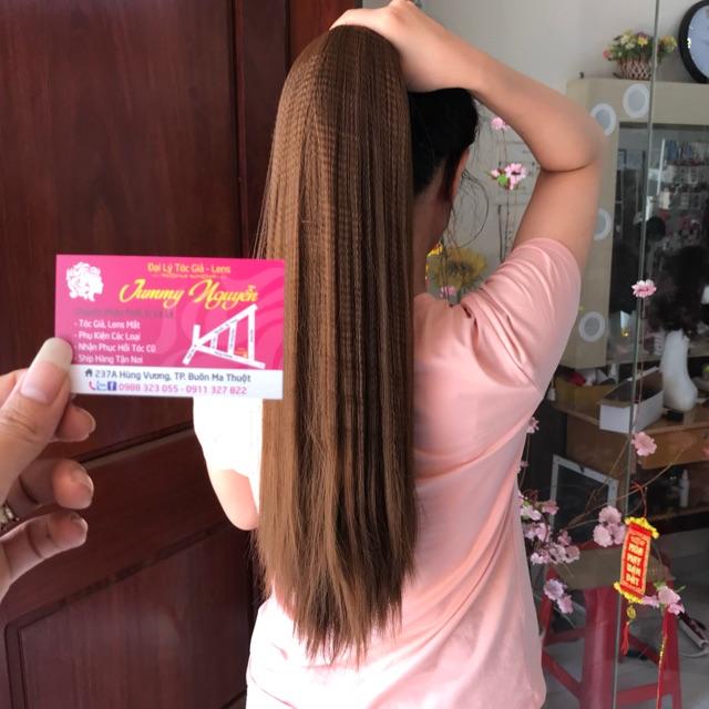 tóc cột thẳng bấm mè