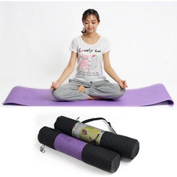 Thảm tập yoga loại dày có túi đựng