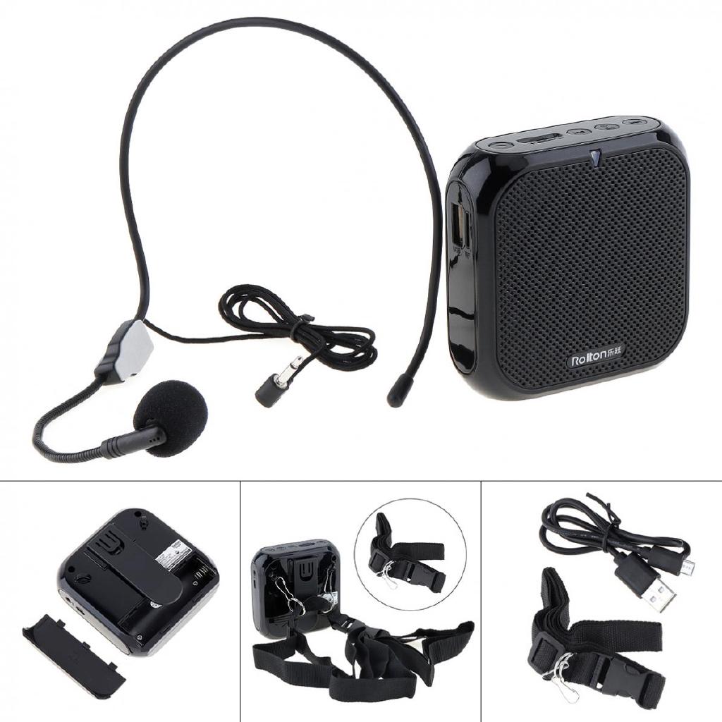 Bộ loa mini Rolton K400 dễ dàng mang theo kèm phụ kiện