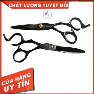 Kéo cắt tóc V5 thép không gỉ màu đen + tặng 1 lược cắt thumbnail