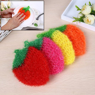 Youyimaoli Stawberry acrylic fiber dish wash cloth clean towel for kitchen random weaving