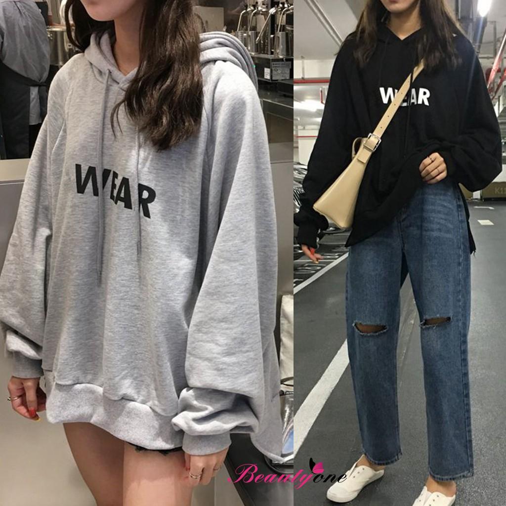 Áo hoodie mỏng dài tay in chữ beautyone
