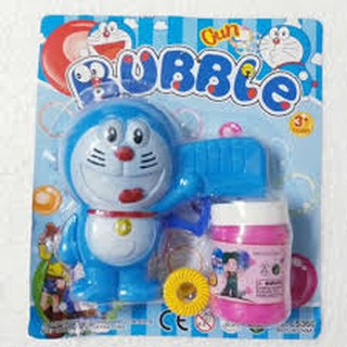 Vỉ đồ chơi súng thổi bong bóng xà phòng hình Doraemon