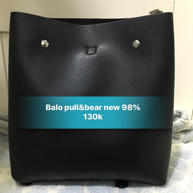 Balo Pull&Bear màu đen new 98%!