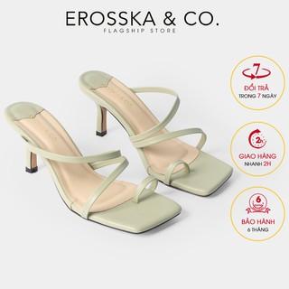Dép cao gót thời trang Erosska xo ngo n phong ca ch Ha n Quô c cao 7cm màu xanh la _ EM065 thumbnail