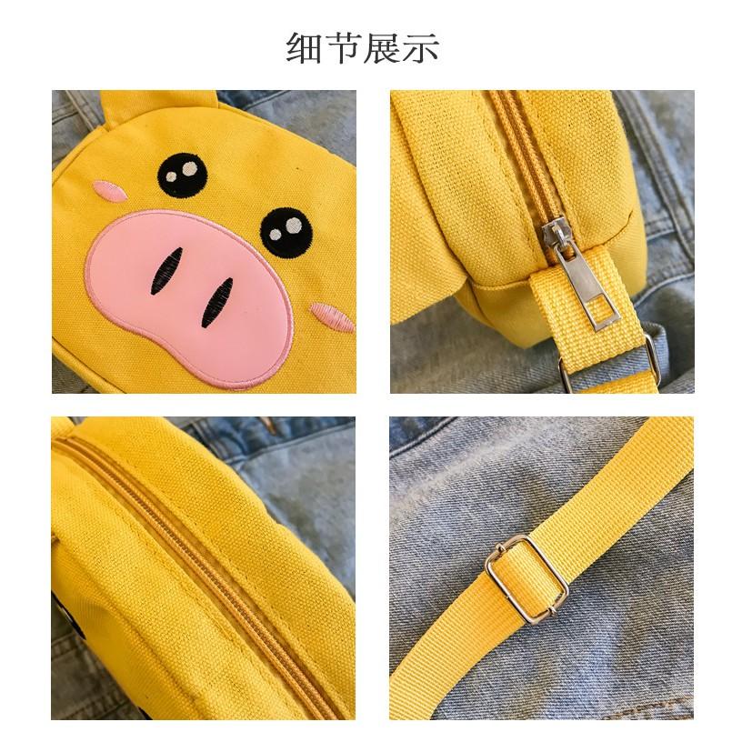 Túi Vải Đeo Chéo Nhỏ XinhStore Bé Heo