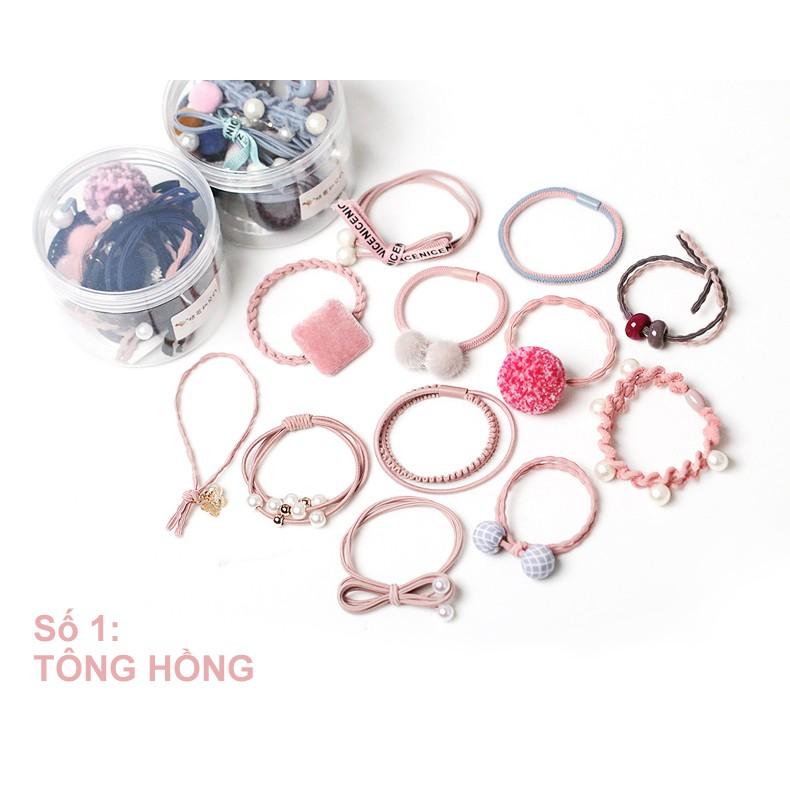 Set 12 cột tóc Hàn Quốc (hồng) - CT031 - 10014228 , 1054646511 , 322_1054646511 , 164400 , Set-12-cot-toc-Han-Quoc-hong-CT031-322_1054646511 , shopee.vn , Set 12 cột tóc Hàn Quốc (hồng) - CT031