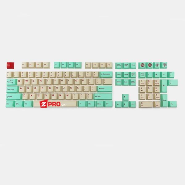 Bộ Keycap Tai-hao JukeBok Cubic Mint-Beige