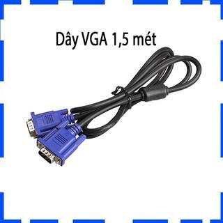[Mã ELMSM3 giảm 20K đơn bất kì] Dây VGA – Cáp VGA chống nhiễu 5 mét – Chống nhiễu – 2 đầu màu xanh – BH 12 tháng