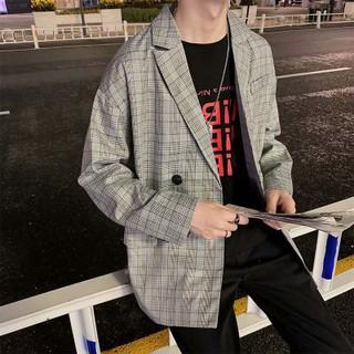 Áo Khoác Blazer Kẻ Sọc Caro Thời Trang Công Sở Thanh Lịch Cho Nam