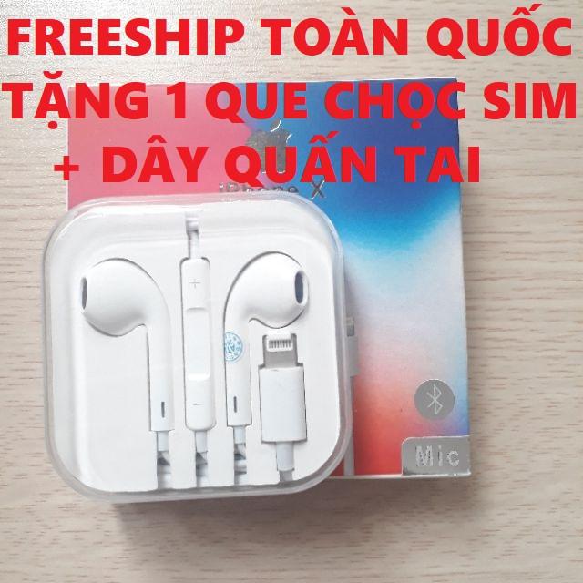 Tai nghe Iphone 6/7/8/X/Xs Có MÍC Đàm Thoại- Tai êm- Bắt Bluetooth 6/6s/7 plus/8 plus/X/11/11 pro max)-BH 12 Tháng