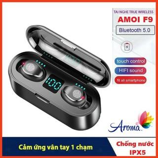 Tai nghe AMOI F9 Cảm Ứng Bluetooth 5.0 Pin 280 giờ sạc dự phòng 2000mah
