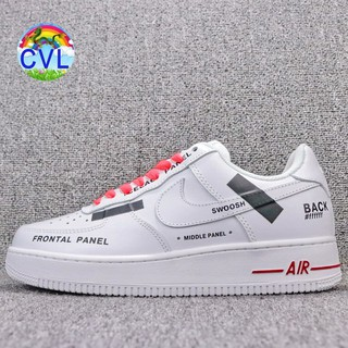 Nike X OFF White Air Force 1 Low AF1 OW Giày da nang c? di?n