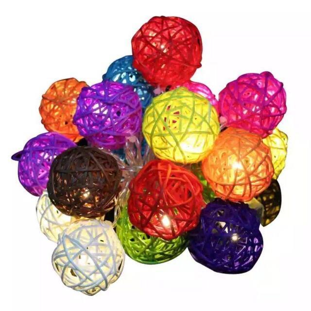 Dây đèn nháy trang trí 7 màu bóng kim siêu sáng