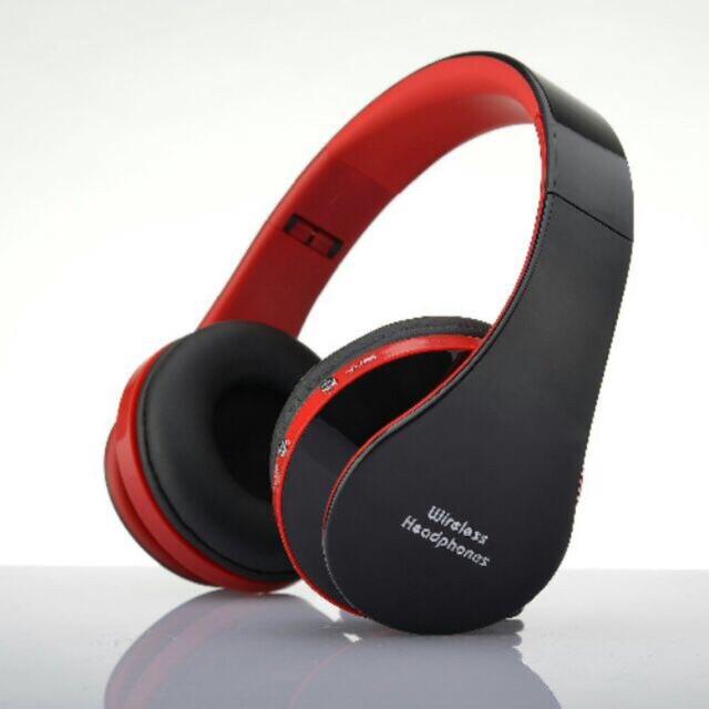 Chụp tai Bluetooth 8252 âm thanh sống động có Mic thoại ( đen đỏ )