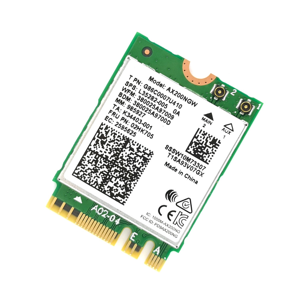 Wireless Built-in Network Card High Speed Dual Band Detachable For Intel AX200 Better 9260