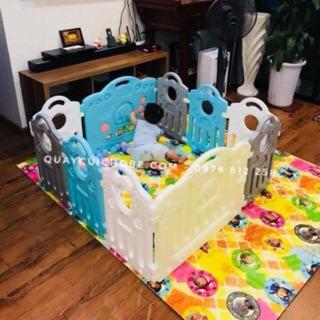 Cũi nhựa cho bé trai 10 miếng ảnh thật, Hàng có sẵn Tặng 50 bóng Pastel và 1 giỏ đựng đồ chơi