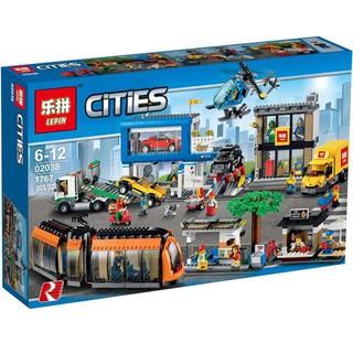 MÔ HÌNH LẮP GHÉP THÀNH PHỐ NHỘN NHỊP – Mà Số Lepin 02038(Lego 60097)