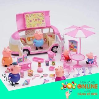 [SIÊU PHẨM] Bộ đồ chơi gia đình heo Peppa Pig đi dã ngoại chính hãng