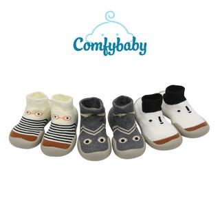 Giày bún tập đi dạng tất cao cổ đế cao su chống trượt -  phong cách Hàn Quốc Comfybaby GB002- chính hãng