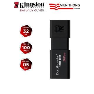USB Kingston DT100G3 16GB / 32GB / 64GB nắp trượt tốc độ upto 100MB/s - Hãng phân phối chính thức