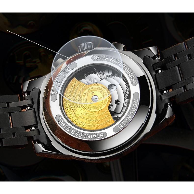 Đồng hồ nam máy cơ Tevise T9005A chạy full kim Automatic