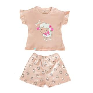 [Mã LILGRO20 giảm 15% đơn 99K] Bộ quần áo cộc tay hoạ tiết cho bé từ 3 tháng đến 3 tuổi Little Love