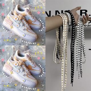 Dây giày thể thao in họa tiết hình hoa cúc thời trang xinh xắn