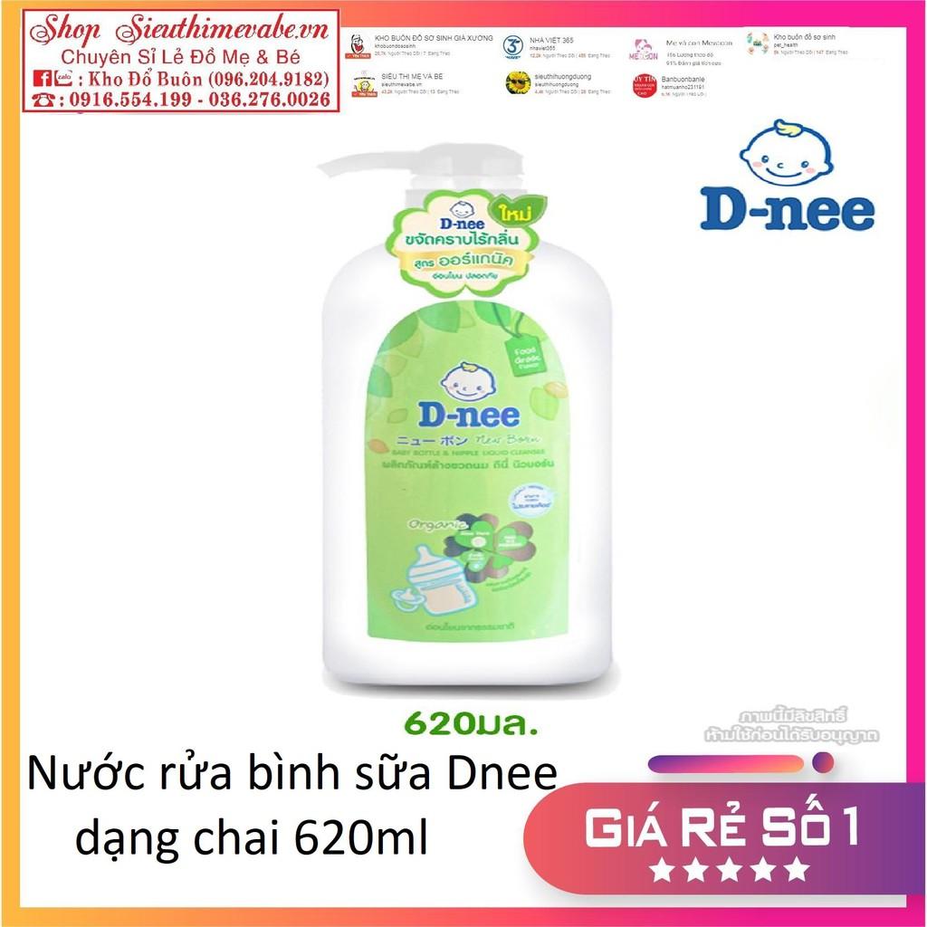 Nước rửa bình sữa Dnee dạng chai 620ml
