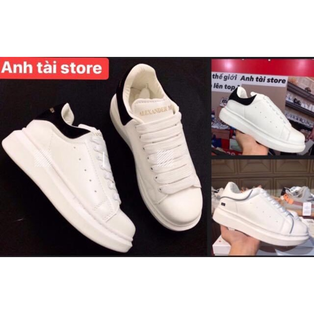 (Bản chuẩn 11❤️tặng bok❤phụ kiện+tất❤quà)Giày thể thao nam nữ MC cao cấp  tăng chiều cao sẵn gót đen+phản quang T181