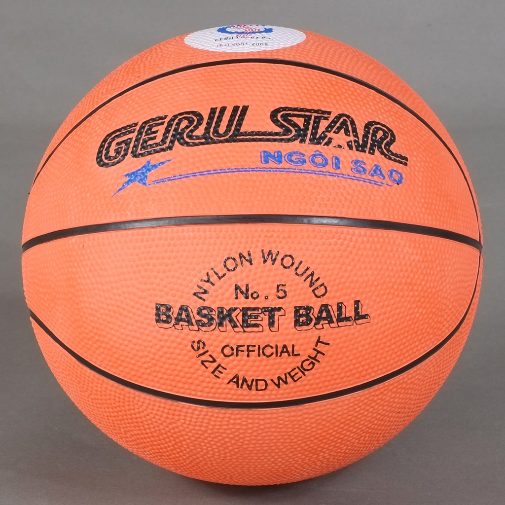 Freeship Quả bóng rổ Gerustar số 3 số 5,số 6,số 7 chính hãng tặng kèm kim bơm và lưới