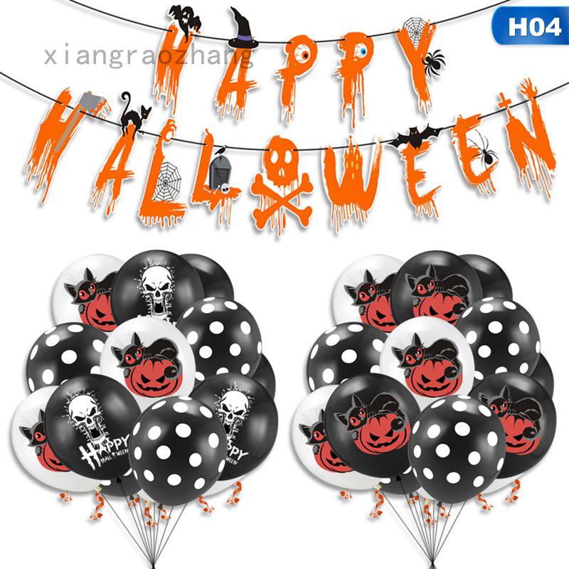 Bộ Dây Treo Bong Bóng Trang Trí Tiệc Halloween