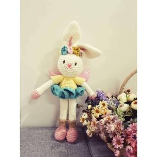 Thỏ váy hồng _Thú len handmade