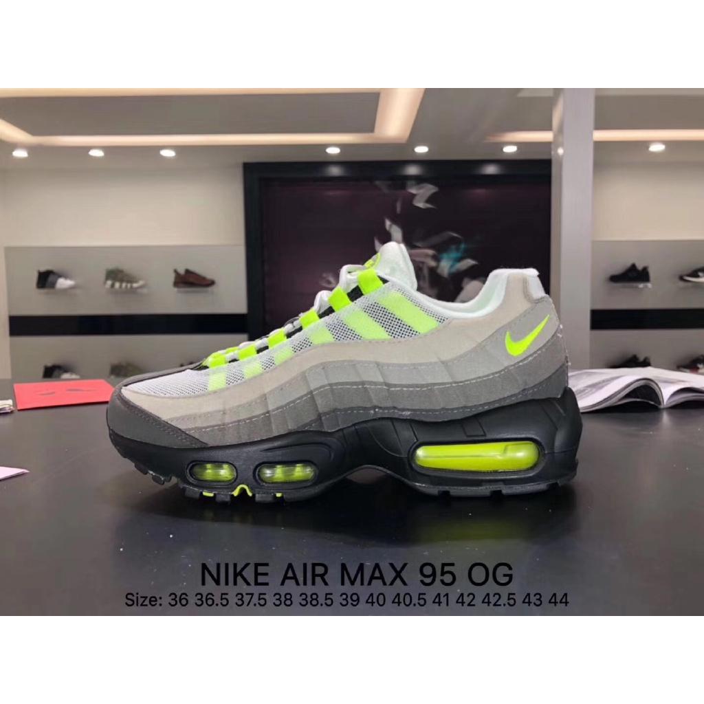ของแท้ NIKE AIR MAX 95 ดวงจันทร์รองเท้าผู้ชายรองเท้าผู้หญิงรองเท้ากีฬารองเท้าวิ่งนันทนาการระบายอากาศ